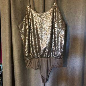 Gold sequin bodysuit
